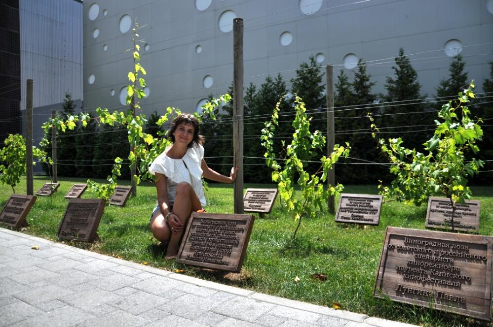 Виноградный садик в парке Абрау-Дюрсо