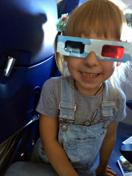 В 3D очках, подаренных Арофлотом