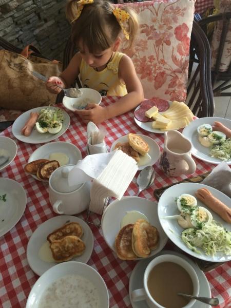 Завтрак в отеле Орлица