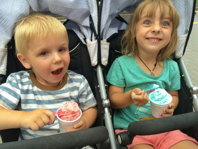 Едим мороженое из натурального сока