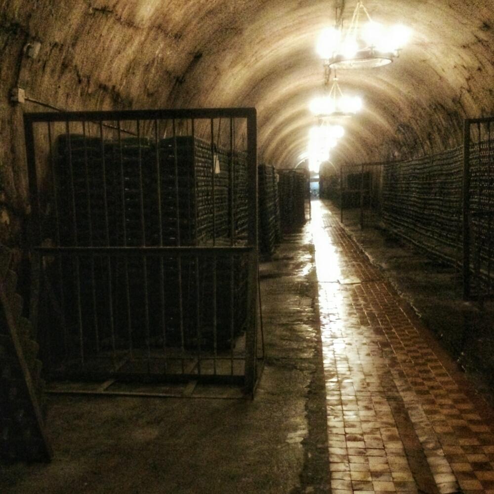 Погреба с шампанским в Абрау-Дюрсо