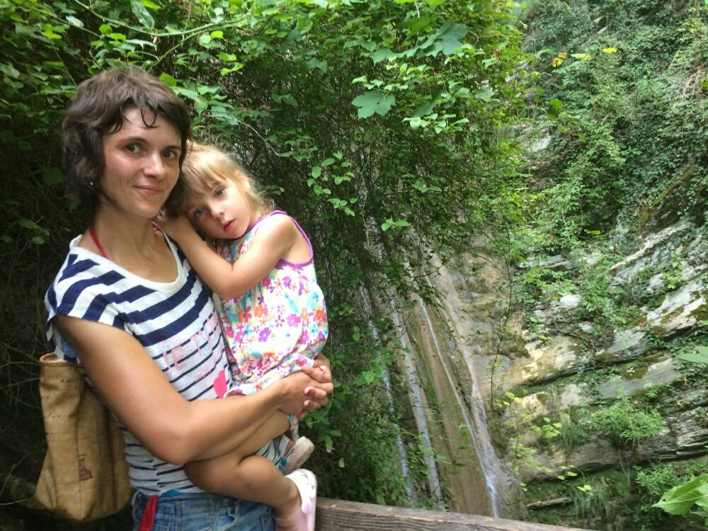 Перед водопадом Старик