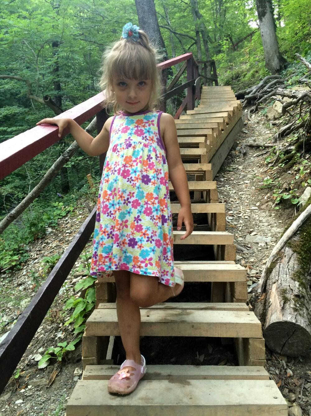 Лестница к водопаду Пасть дьявола
