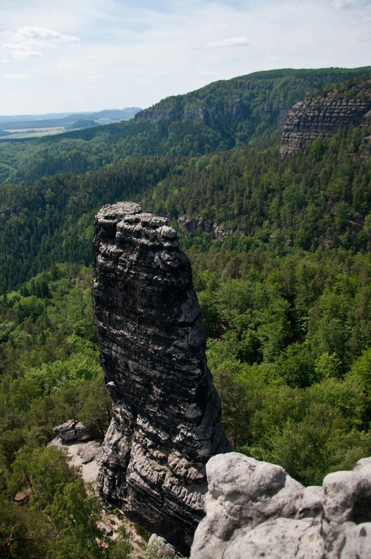 Скала в Чешской Швейцарии