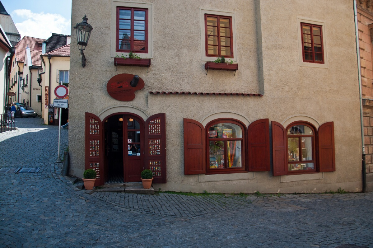 Магазин канцтоваров в Чешски Крумлове