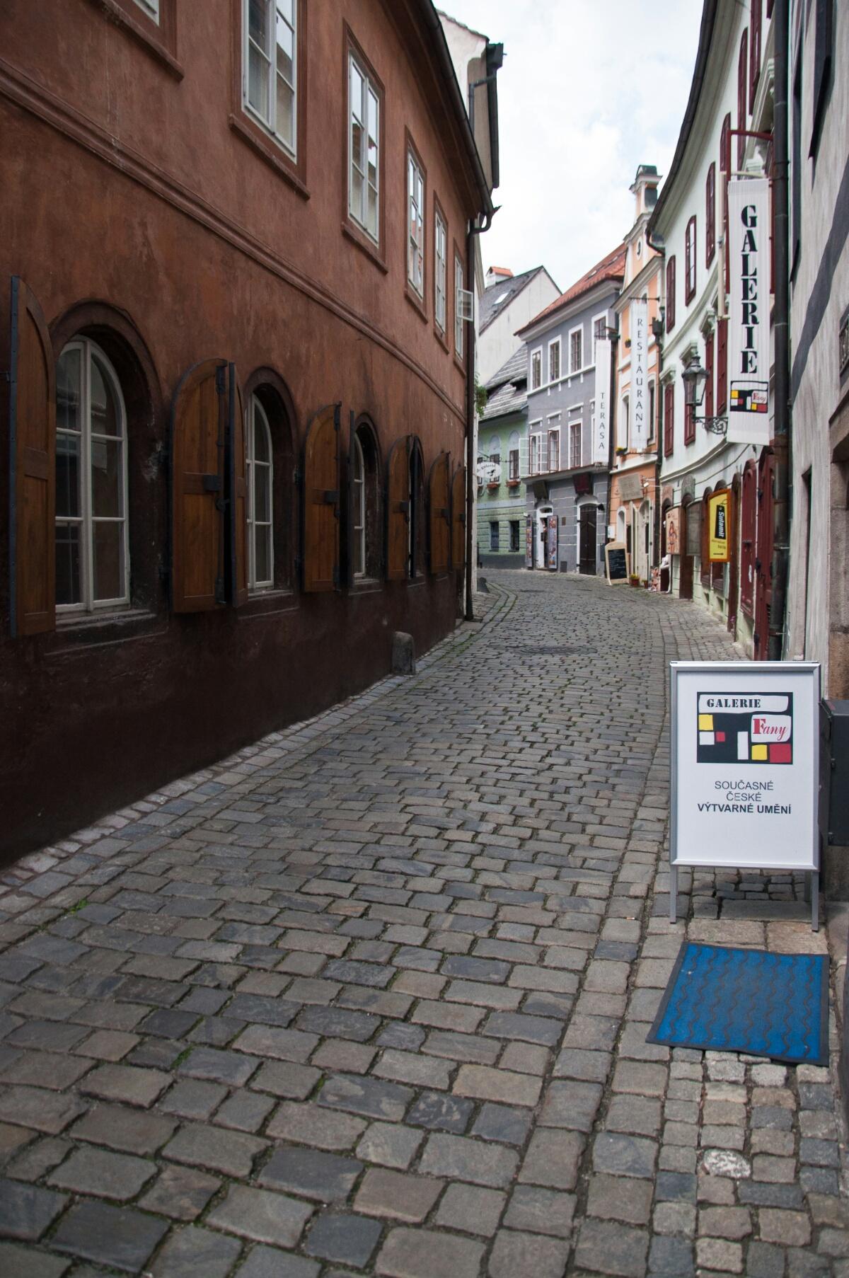 Улочка в Чешском Крумлове
