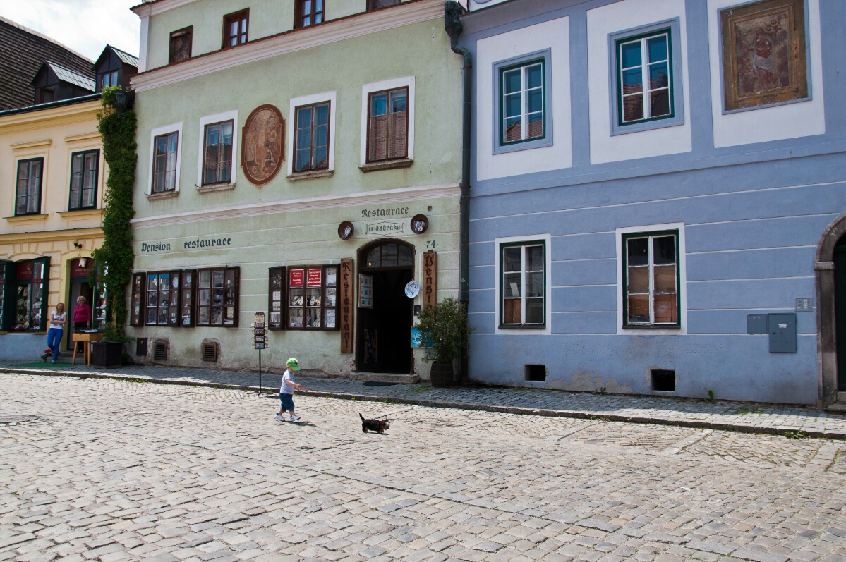 Торговая улочка в Чешски Крумлове
