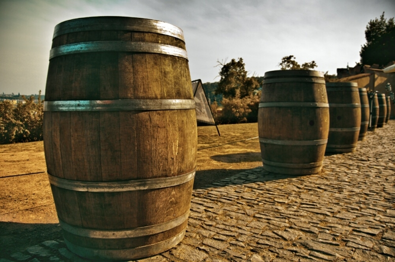 Бочки в виноградниках Праги