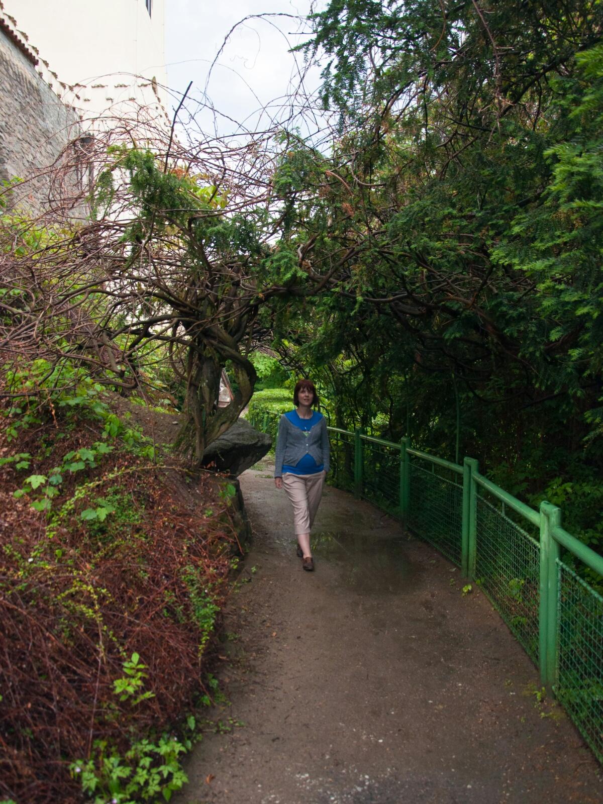 Тропинки под стенами замка Орлик