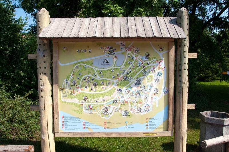 Схема пражского зоопарка