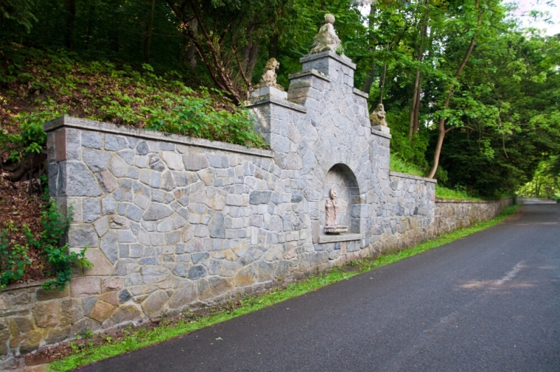 Территория парка у замка Конопиште