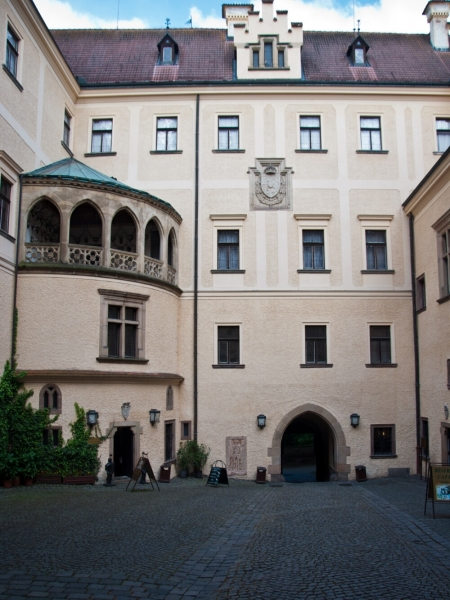 Внутренний двор замка Конопиште