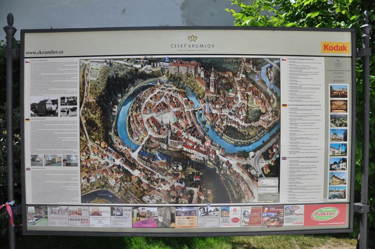Схема городка Чески Крумлов