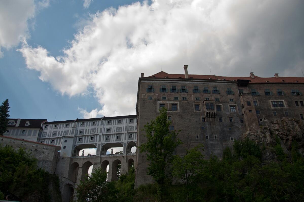 Крепостной мост в Чески Крумлове
