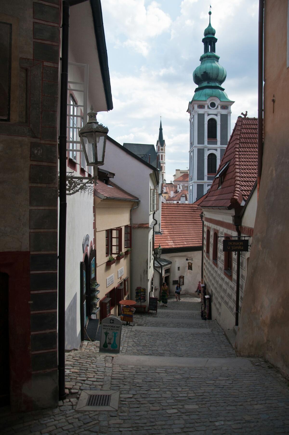 Городская лестница в Чески Крумлове