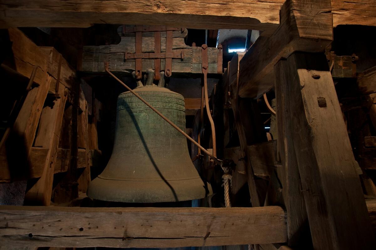 Колокола в башне Крумловского замка.