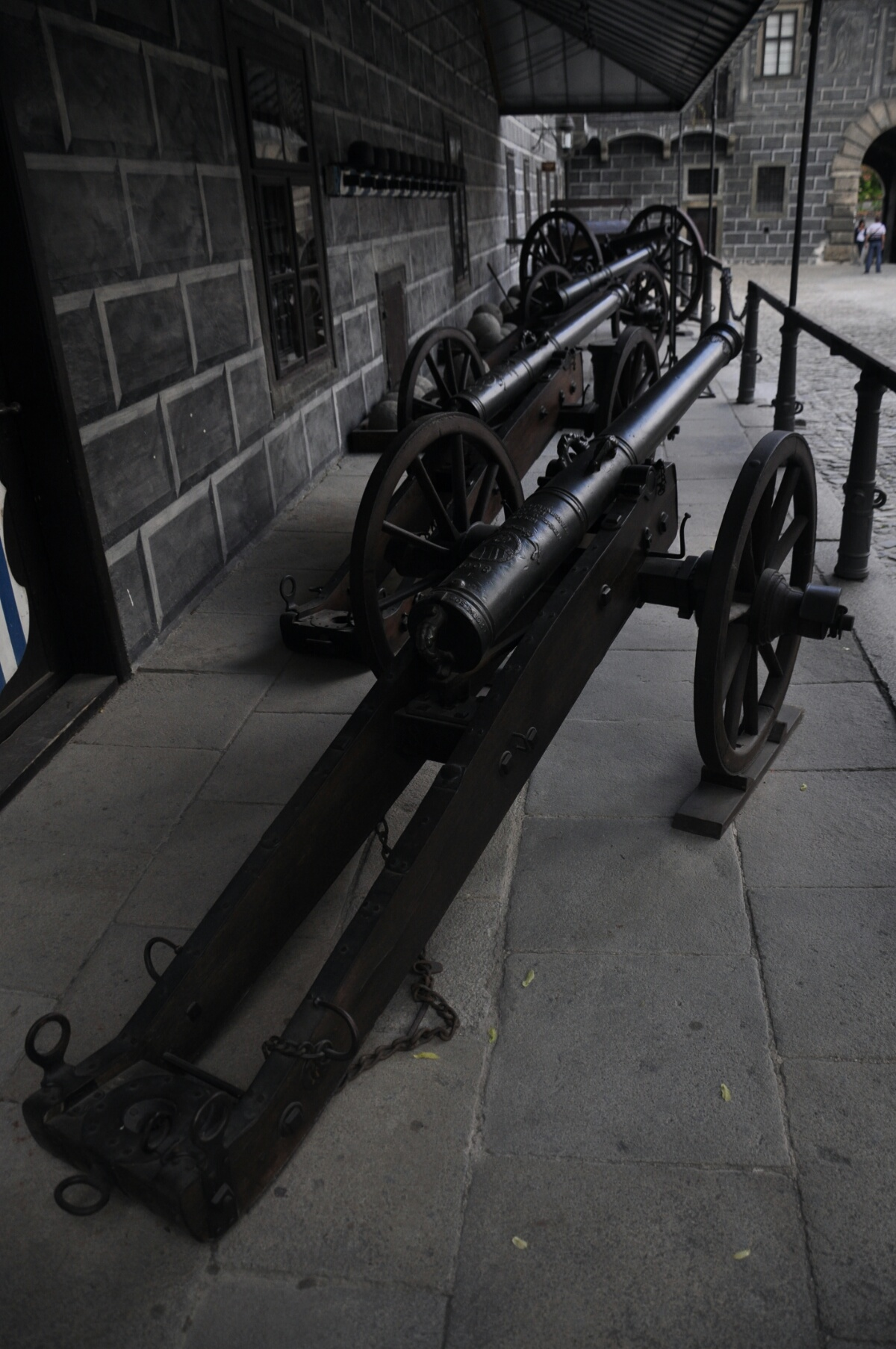 Пушки в Крумловском замке