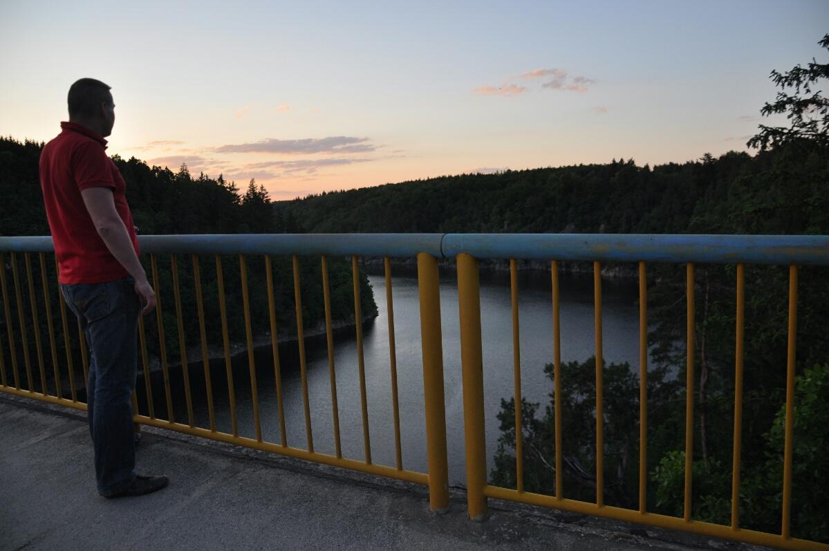 На мосту через реку Отава