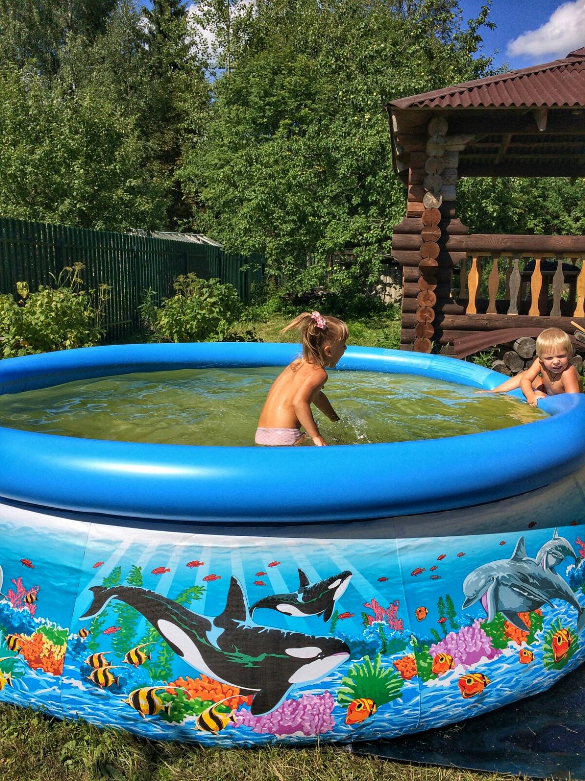 Оппобываем с Тёмой наш новый бассейн