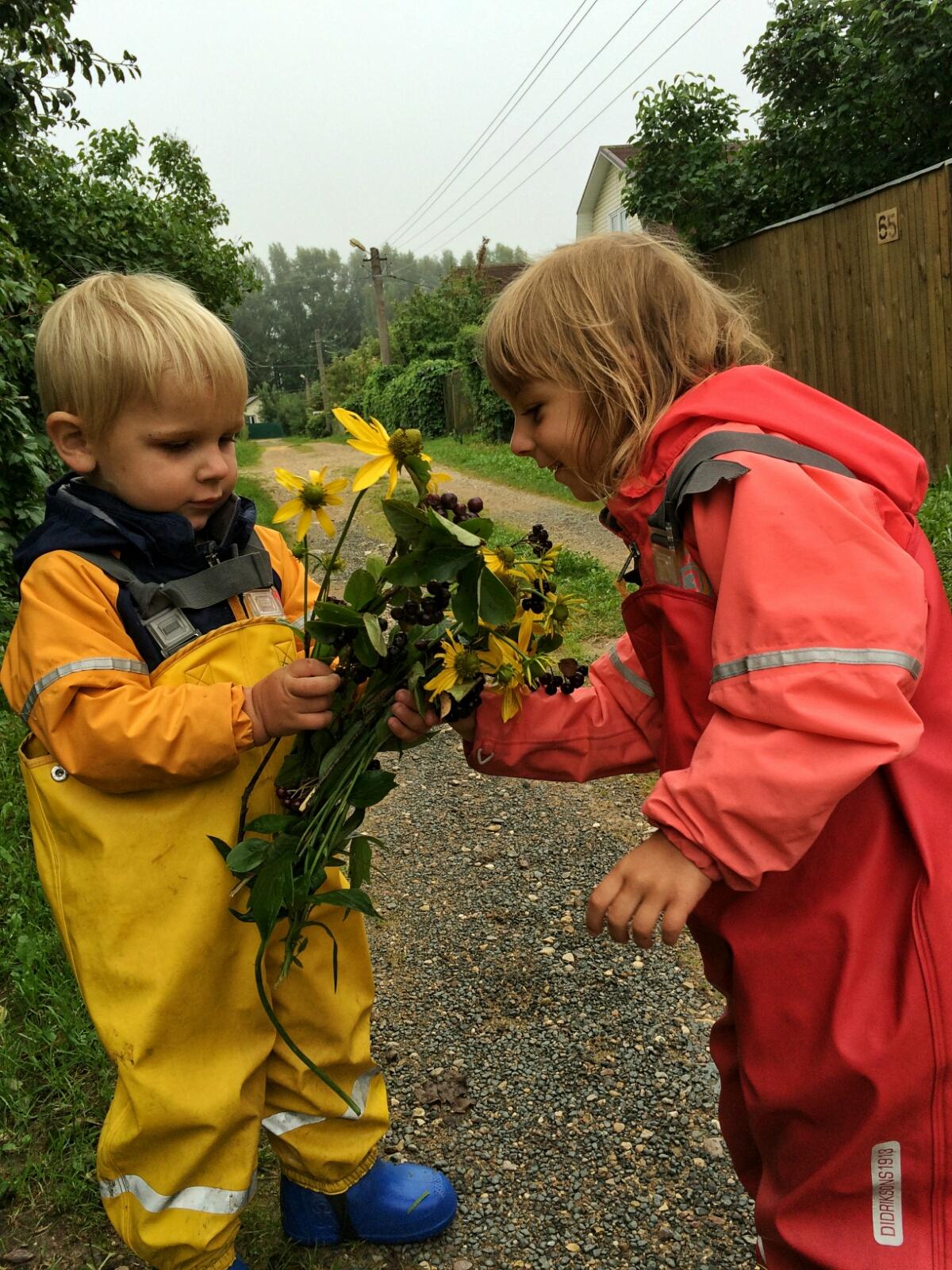 Собираемых букеты цветов