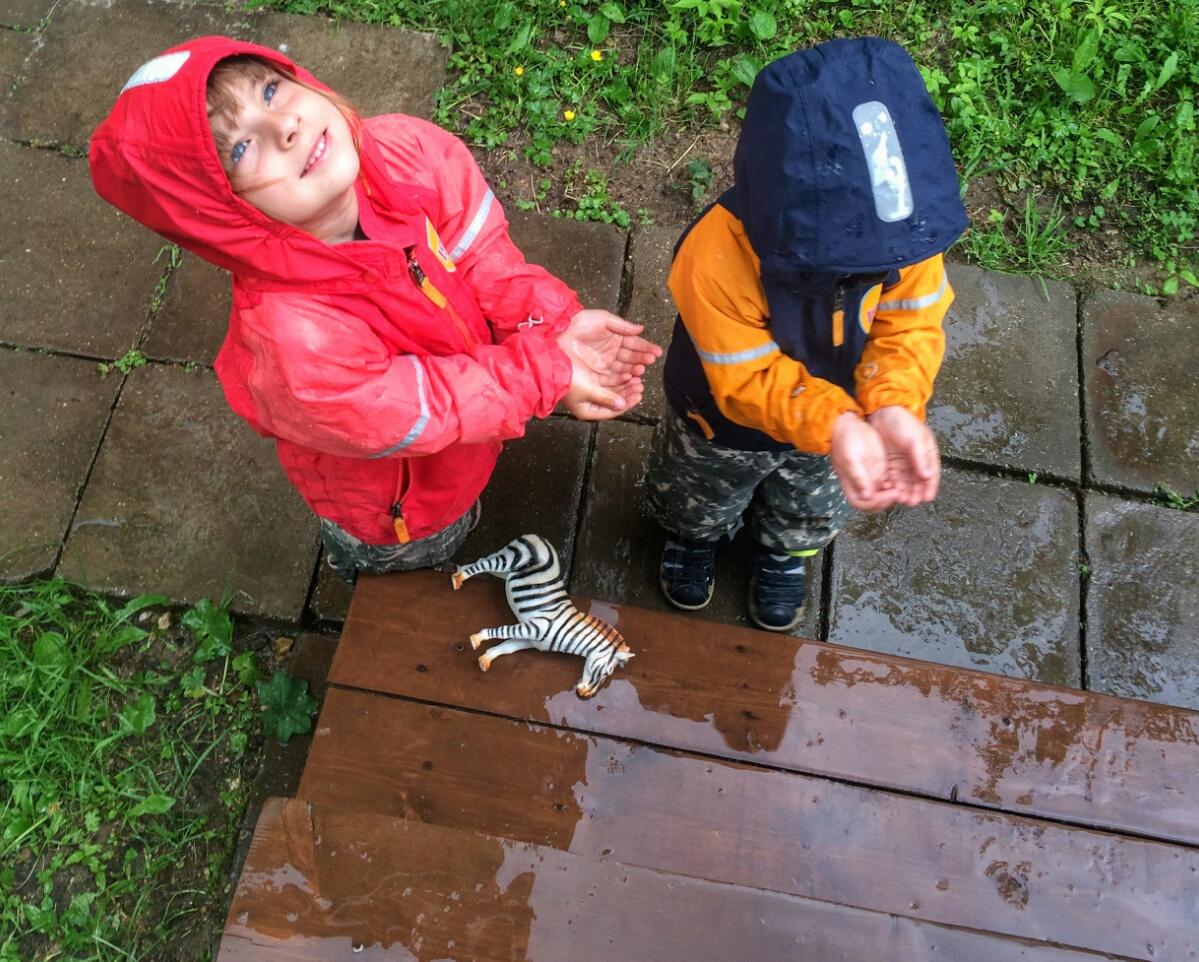 Ловим капли дождя