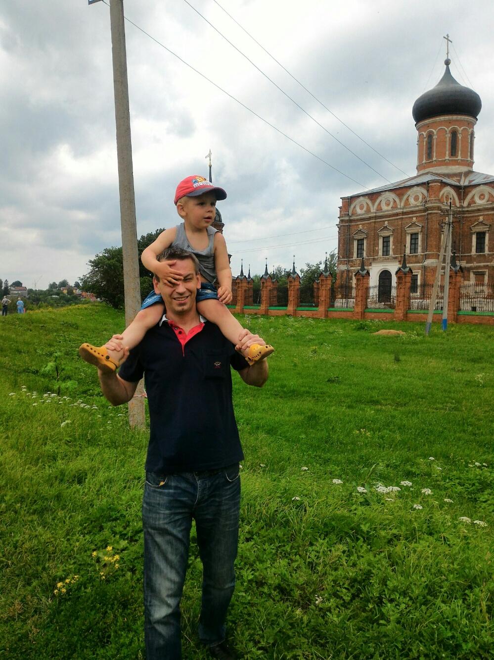 На крепосьном валу Волоколамского кремля