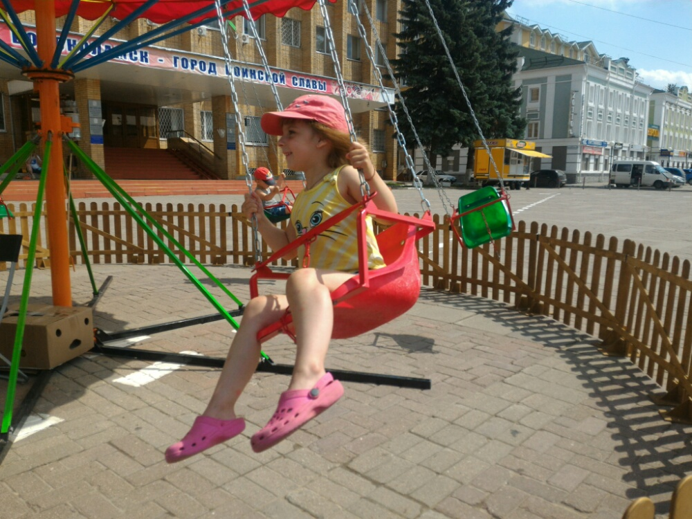 Катаюсь на каруселе в Волоколамске