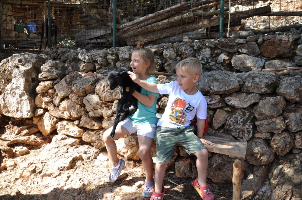 С козлёнком в парке Аскос