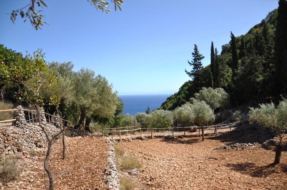 Вид на море с холмов парка Аскос