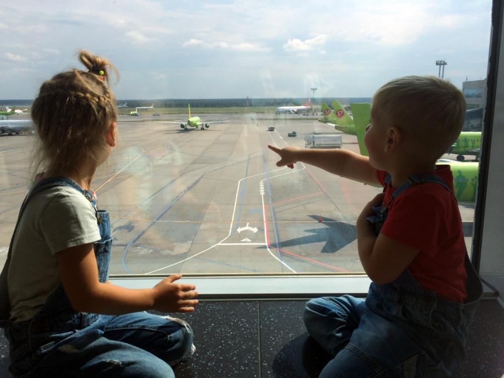 Наблюдаем за самолётами в аэропорту Домодедово