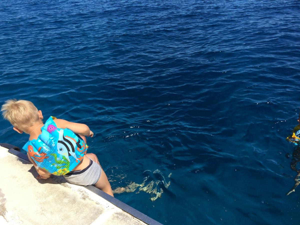 Неудачная первая попытка прыжка в море
