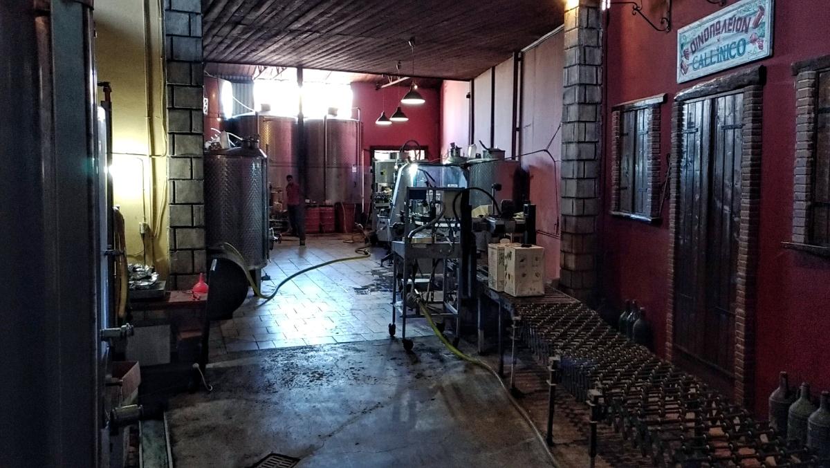 Производственные помещения винзавода Callinico