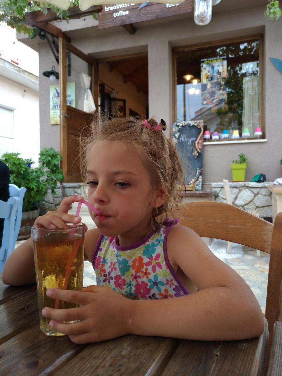 Пью сок в таверне Allegro