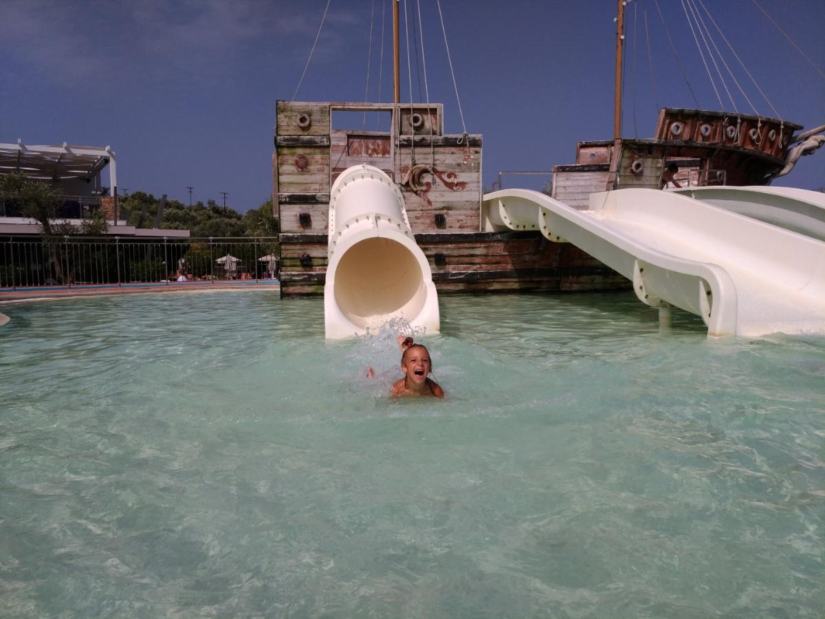 Катаюсь с горок в аквапарке Tsilivi Water Park