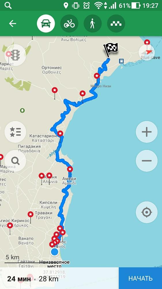 Маршрут от Циливи до парка Аскос